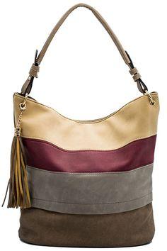 d2fb3c2318 Amazon.com  Handbags for women totes Hobo Shoulder Bags Tassels Stripes Top  Handle Bags