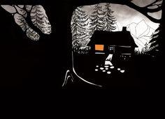 Hansel et Gretel des frères Grimm, illustrations Sybille Schenker, ed. Minedition http://www.vogue.fr/culture/a-lire/diaporama/contes-les-belles-histoires-1/7496#!hansel-et-gretel-des-freres-grimm-illustrations-sybille-schenker-ed-minedition