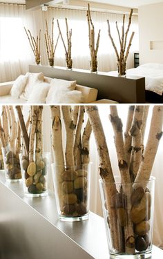 NATuralmetrics: paper birch poles, trees, branches, twigs