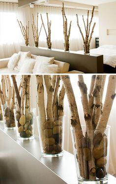NATuralmetrics: paper birch poles, trees, branches, twigs