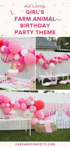 If you have a toddler, you know that throwing a themed birthday party is a must! For my little girl's birthday, we threw her a farm animal themed party & it was AMAZING! Click through to see all the girly farm animal decorations, from the food and the 2 Year Old Birthday Party Girl, Girls Birthday Party Themes, Kids Party Themes, Kids Party Decorations, Birthday Ideas, Party Ideas, Prom Themes, Theme Ideas, Farm Animal Birthday