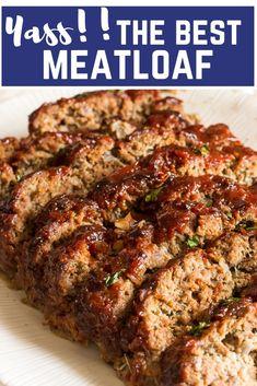 Best Meatloaf RecipeYou can find Meatloaf recipe and more on our website.The Best Meatloaf RecipeThe Best Meatloaf RecipeYou can find Meatloaf recipe and more on our website.The Best Meatloaf Recipe Moist Meatloaf Recipes, Good Meatloaf Recipe, Meat Recipes, Cooking Recipes, Healthy Recipes, Homemade Meatloaf, Lamb Recipes, Cooking Games, Gourmet