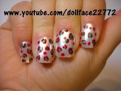 Christmas Leopard - Nail Art Gallery by NAILS Magazine