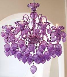 lavender arc deco chandelier by Cleide piasecki