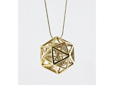 Faceted Icosa Pendant 3d printed Mathematical Art Pendants