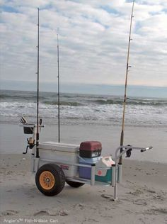 Fishing cart with cooler and tackle box