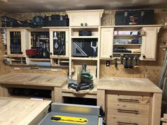 Simple tool storage and shelving units for my workshop. Workshop Storage, Tool Storage, Garage Workshop, Home Workshop, Workshop Organization, Workshop Ideas, Garage Storage, Garage Tools, Diy Garage
