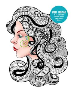 136 Best Zentangle Doodle Faces Images On Pinterest In 2018