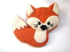 cute fox pin