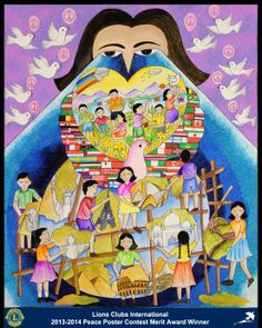 Merit Award Winner, Ishita Patel, from India (Bombay Sion Lions Club) - 2013-2014 Lions Clubs International Peace Poster Contest