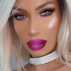 Pin By Jillianwoj On Beauty In 2019 Nikki French Makeup Pink Pale Skin Makeup, Sexy Makeup, Pink Makeup, Glam Makeup, Insta Makeup, Beauty Makeup, Makeup Looks, Hair Makeup, Full Makeup