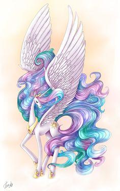MLP: Princess Celestia by *Tom-Ka on deviantART