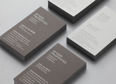 Two tone grey duplex business card for Singapore-based architectural and spatial design practice Manor Studio created by Manic.