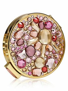Estee Lauder Pink Starry Night Powder Compact This is absolutely gorgeous! Anna Sui Lipstick, Cute Lipstick, Solid Perfume, Make Me Up, Compact Mirror, Face Powder, Pink, Estee Lauder, Gift Guide