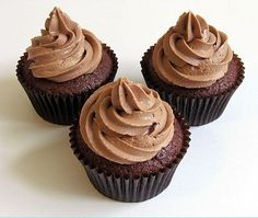 Nutella Filled Chocolate #Cupcakes...