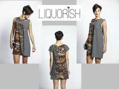 Liquorish Animal Print Grey Evening Dress, half price now at: https://www.liquorishonline.com/liquorish-animal-print-grey-evening-dress-4202.html