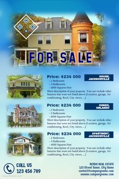 Real estate flyers template with a blue sky background http://www.postermywall.com/index.php/poster/view/bfc6e1262df78dae870d24f1c836d8e4