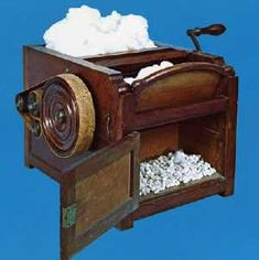 -born inventor Eli Whitney patented the cotton gin, a machine that revolutionized the production of cotton by greatly speeding up the Us History, American History, American Women, Eli Whitney Cotton Gin, American Manufacturing, Classical Education, Neo Victorian, Industrial Revolution, Social Studies