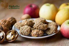 Kuchařka ze Svatojánu: OVESNÉ SUŠENKY S OŘECHY Cookie Recipes, Cereal, Almond, Muffin, Menu, Sweets, Cookies, Breakfast, Fit