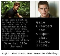 Ok guys no more hate between teams ok? Gale did lots of stuff or katniss. Peeta did lots of stuff for katniss. In the end she chose peeta. Hunger Games Jokes, Hunger Games Cast, Hunger Games Fandom, Hunger Games Catching Fire, Hunger Games Trilogy, Divergent Hunger Games, Team Gale, Percy Jackson, Jenifer Lawrence