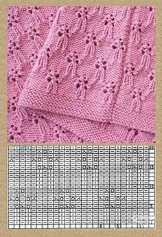 Knitting Patterns Lace Free knitting stitch pattern, chart only, no key or explanation for chart – created via pinthemall. Knitting Machine Patterns, Knitting Stiches, Knitting Charts, Easy Knitting, Crochet Stitches, Lace Patterns, Stitch Patterns, Crochet Baby Beanie, Embroidery Designs