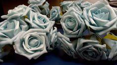 Buquê de rosas azul em EVA