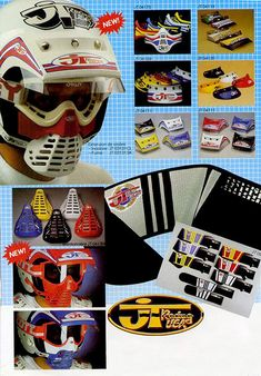 When it comes to protection stuff, i know nowadays nobody wear em' till it's mandatory even if tricks are higher and harder! But in racing bmx, mostly everyone wears at least helmet. Enduro Vintage, Vintage Bmx Bikes, Vintage Motocross, Vintage Racing, Yamaha Motocross, Motocross Kit, Fox Racing Logo, Bmx Racing, Motorcycles