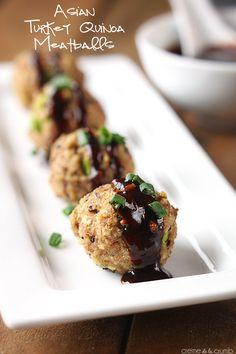 Asian Turkey Quinoa Meatballs Cooking Recipes, Healthy Recipes, Asian Recipes, Tasty, Yummy Food, Turkey Recipes, Appetizer Recipes, Appetizers, Food Inspiration
