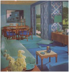 1960s Home With View From Living Room Into Dining Room And Kitchen In The Background 1960s Decor Pinterest Posts Home And Living Rooms