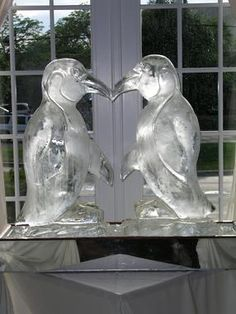 Penguin Ice Sculptures In Philly