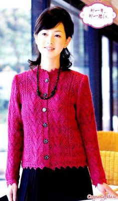 Classic jacket spokes. - Knitted fashion + NEMODELNYH FOR LADIES - Country Mom