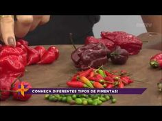 Conheça os diferentes tipos de pimentas - YouTube Growing Vegetables, The Creator, Beef, Stuffed Peppers, Food, Youtube, Pickles, Spices, Cook