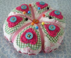 Heart pincushion.