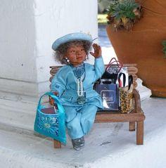 Ooak Miniature African American Black Woman 1:12th Dollhouse Artisan Art Doll