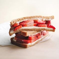 Strawberry & Cream Cheese Sandwich - EatingWell.com