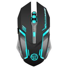 7-צבע נטענת Wireless Gaming Mouse עכברים גיימר נוחות נשימת תאורה אחורית עבור מחשב נייד מחשב שולחני מחשב