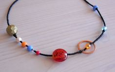 Solar system necklace DIY, kids