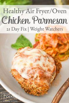 Healthy Chicken Parmesan, Healthy Chicken Dinner, Weight Watchers Chicken Parmesan Recipe, Chicken Recipes, Recipe Chicken, Shrimp Recipes, Salmon Recipes, Fixate Recipes, Healthy Recipes