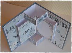 Årets første kort har jeg laget i dag.  Da ble det et brettekort med dette herlige mønsterarket fra Papirdesign.  Tekst, blonde o...