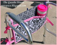 This is a great gift for an Assisted Living Resident- a walker caddy! Here's a tutorial: