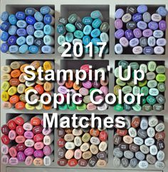 I have come up with Copic color matches for the 2017-19 Stampin' Up In Colors!!  I have two charts on my sidebar - one is just the In C...