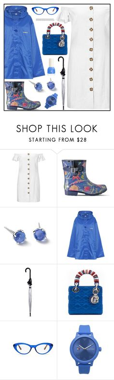 """""""Puddle Jumper: Rainy Day Outfit"""" by tlb0318 ❤ liked on Polyvore featuring Miss Selfridge, Nomad, Vetements, Fulton, Vera Bradley, Tommy Hilfiger and H&M"""