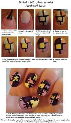 Nailed It NZ: Patchwork nails tutorial    reminds me of Sally from Nightmare Before Christmas