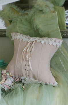 corset pillow  shabby chic rustic French country bedroom decor idea. ***  Repinned from Cathy Gariety ***.