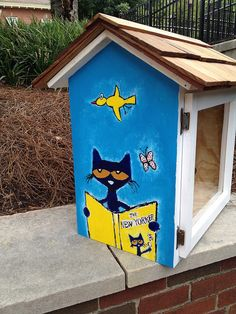 Pete the Cat little free library