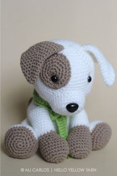 Crochet Amigurumi Puppy Dog PATTERN ONLY Jack by HelloYellowYarn
