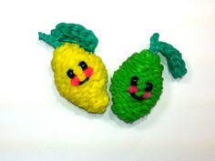 cool 3-D Happy Lemon (Lime) Tutorial by feelinspiffy (Rainbow Loom)