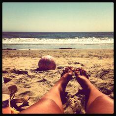 Beach soccer girl