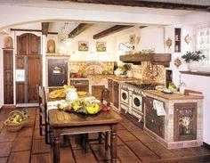 CUCINA RUSTICA CON LAVABO IN MARMO - Arredamento Shabby   Kitchen ...