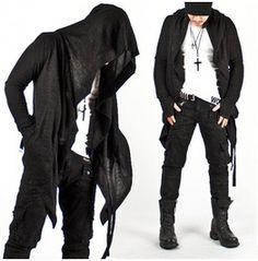 Avant Garde Super Unique Diabolic Hood Charcoal Cape Cardigan